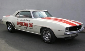 """69 Camaro """"Z11' Indy Pace Car Convertible. $73,000"""